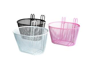 "FRONT BASKET CAVO STEEL 12-16"" WHITE/PINK/BLACK"