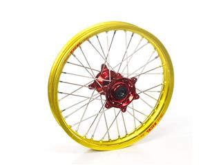 HAAN WHEELS Komplett bakhjul 19X2.15 Gul Fälg/Rött Nav Suzuki RM250