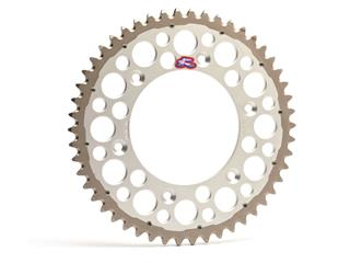 RENTHAL Twinring® 49 Teeth Rear Sprocket Ultra-light Self-Cleaning Hard Anodized 520 Pitch Type 2240 Silver