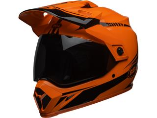 Casque BELL MX-9 Adventure MIPS Gloss HI-VIZ Orange/Black Torch taille L - 7092708
