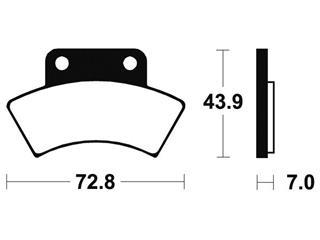 Plaquettes de frein TECNIUM MOA217 métal fritté - 8898803b-dd06-47b8-9365-5e07187c9602