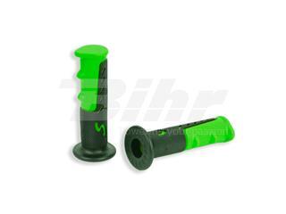 Par puños ciclomotor Negro-Verde