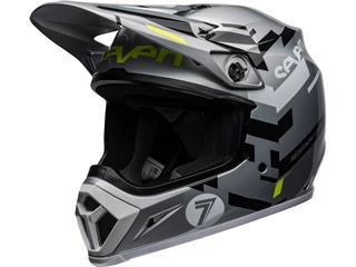 Casque BELL MX-9 Mips Seven Equalizer Gray/Black/Hi Viz taille XS