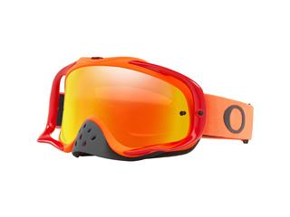 Masque OAKLEY Crowbar MX orange/rouge écran Fire Iridium + transparent