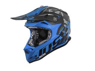 JUST1 J32 Pro Helmet Swat Camo Fluo Blue Gloss Size L - 801000050770