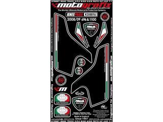Kit déco avant MOTOGRAFIX blanc Ducati