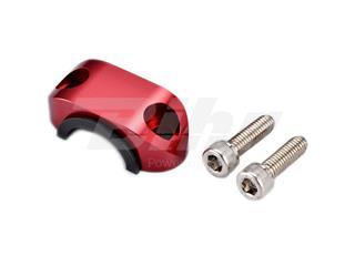 Abrazadera superior soporte maneta con goma ART rojo