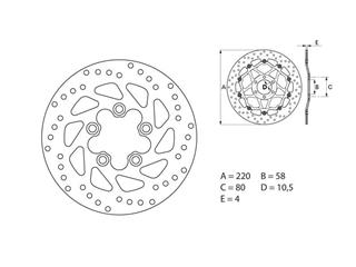 SERIE ORO front brake disc (replacement of the original) - 53.240731