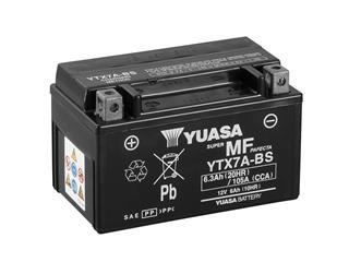 Batterie YUASA YTX7A-BS sans entretien livrée avec pack acide