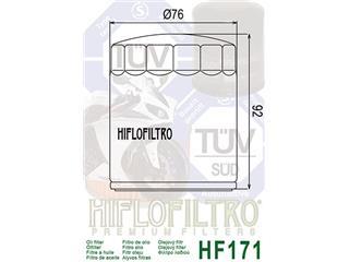 Filtre à huile HIFLOFILTRO HF171B noir - 8c57c75c-c131-4322-936e-d59071d97fa8