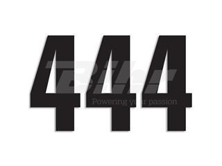 Numeros de carrera negro - Pack de 3 Uds Blackbird PVC 5047/20/4