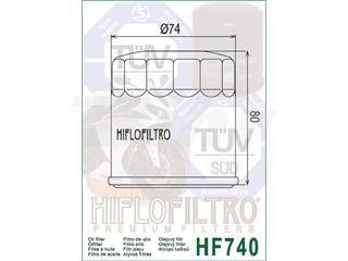 Filtro de aceite Hiflofiltro HF740 - 8d0a937c-89b0-4124-a37e-c8193c3bb854