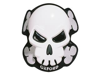 Sliders de genou OXFORD Skull blanc