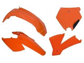 Kit plastiques RACETECH couleur origine orange KTM SX125/250/400/450/520/525  - 7804832