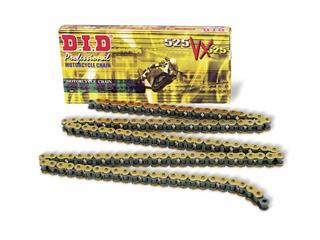 Chaîne de transmission D.I.D 525 VX or/noir 108 maillons