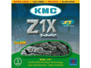 "CHAIN KMC Z1X ANTIRUST/EPT 8.6MM 1/2 X 1/8"" X 128 SILVER"