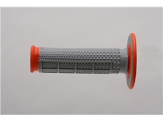 RENTHAL MX Tapered Diamond/Half Waffle Grips Grey/Orange