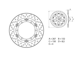BREMBO Oro Brake Disc Round Floating - 53.140818
