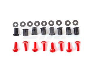Kit parafusaria viseira alumínio Pro-Bolt vermelha SK020R - 54780