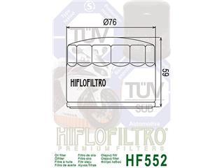 Filtre à huile HIFLOFILTRO HF552 noir Moto Guzzi - 8ed04044-72d3-485a-ba3b-e74abc9ad00b