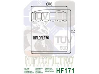 HIFLOFILTRO HF171C Oil Filter Chrome - 8f1729d0-abb4-4cf8-8d1f-7faf96371289