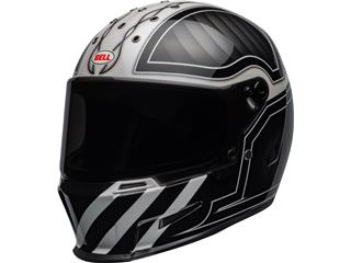 BELL Eliminator Helm Outlaw Gloss Schwarz/Weiß Größe M/L