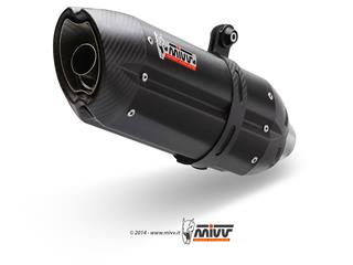 Silencieux MIVV Suono inox brossé noir/casquette carbone Triumph Speed Triple 1050 - MVT008L9