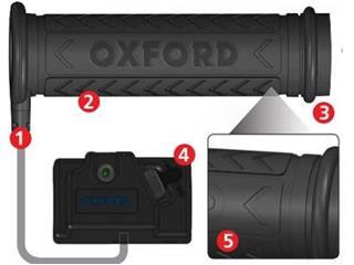 OXFORD Hotgrips ATV Handvatverwarming Stuurschakelaar Hoog/Laag