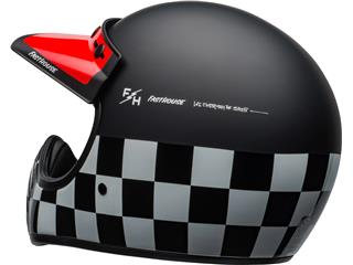 BELL Moto-3 Helmet Fasthouse Checkers Matte/Gloss Black/White/Red Size XS - 8fc6a7b7-b3bd-4cc7-9adb-e48ef7a004e1