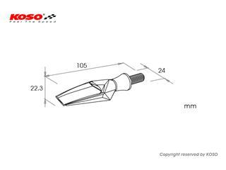 KOSO Mars LED Indicator Black/Smoked Universal by unit - 8fdaf252-ccf6-4af0-a135-0c764cb67e54