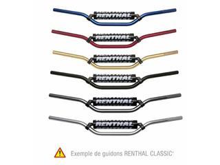 Guidon Ø22,2mm avec barre RENTHAL Classic Suzuki RM rouge/mousse noire