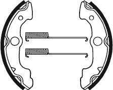 Machoires de frein TECNIUM BA085 organique