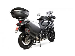 Silencieux SCORPION Serket Parallel carbone/casquette ABS noir Suzuki V-Strom 1000 - 90f61e07-84fc-4231-8bcb-ad4292163689