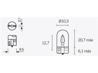 Ampoule V PARTS T10 12V/3W culot W21X9,5D 10pcs