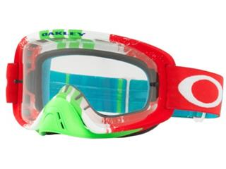 OAKLEY O Frame 2.0 Goggle Pinned Race Red/Green Clear Lens