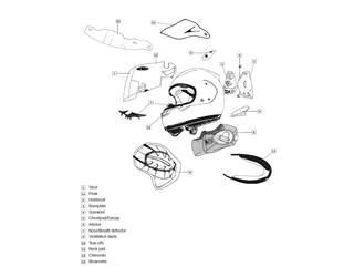ARAI Fullface Helmet Side Cowl Vent Aluminium Silver