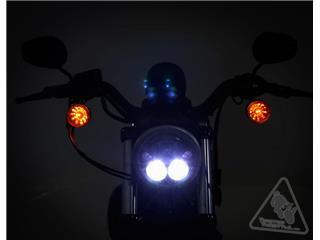 DENALI M5 LED Headlight Ø145mm Black Chrome - 91d0228f-419b-4813-a8f6-d30c87a38b3d