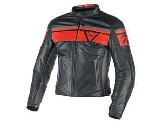Dainese Blackjack Jacket Leather Black/Red/Grey Size 52 Man