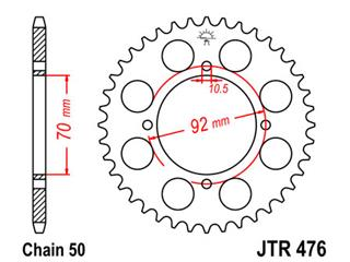 Couronne JT SPROCKETS 35 dents acier pas 530 type 476 - 47047635
