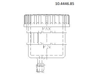 Depósito para bomba Brembo salida recta soporte por abrazadera