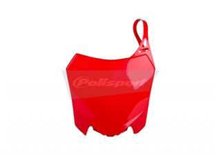 Plaque numéro frontale POLISPORT rouge Honda CRF250F/CRF450F - PS213RD09