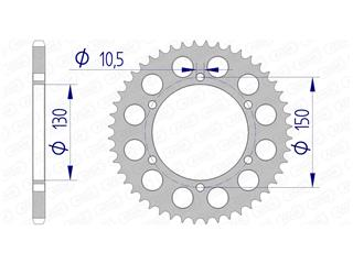AFAM Rear Sprocket 47 Teeth Aluminium Ultra-Light 520 Pitch Type 13604