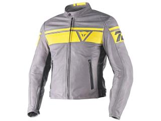 Dainese Blackjack Jacket Leather Dark Grey/Yellow/Black Size 58 Man