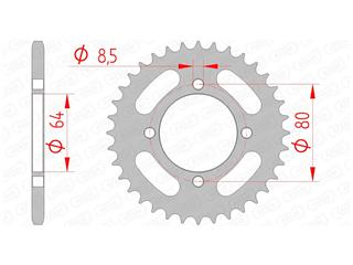 Couronne AFAM 36 dents acier standard pas 420 type 12101