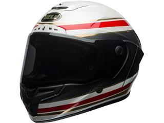 BELL Race Star Helmet RSD Gloss/Matte White/Red Carbon Formula Size XL