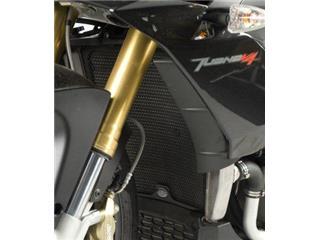 R&G RACING Radiator Guard Black Aprilia Tuono V4R