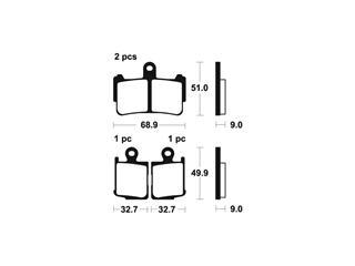 Plaquettes de frein TECNIUM MFP369 métal fritté - 947a7f68-ad80-42f6-877b-859aaa07b1e8