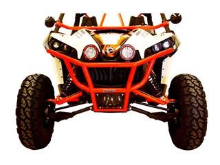 DRAGONFIRE RacePace Front Bumper Red Can-Am Maverick