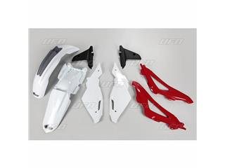 UFO Plastic Kit OEM Color White/Red/Grey Husqvarna CR125