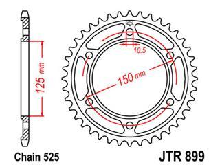 Couronne JT SPROCKETS 42 dents acier pas 525 type 899 - 47089942